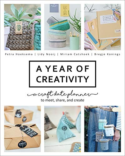 A Year of Creativity: A Craft Date Planner to Meet, Share, and Create (English Edition)
