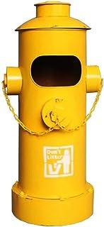 Bacs à Ordures Extérieurs Américain Vintage Poubelles En Plein Air Creative Fer Bouche D'incendie Styling Poubelle Style I...