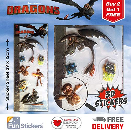 Dragons Stickers 3D 4001