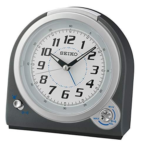 Seiko Alarm Clock, Gray, 13.5 x 13 x 7.7 cm