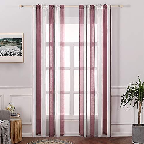 cortinas de cocina rojo y blanco