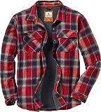 Legendary Whitetails Men's Archer Shirt Jacket Barnwood Twig Plaid Large, Red