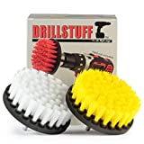 Bathroom Accessories - Cleaning Supplies - Drill Brush - Shower Door - Glass Cleaner - Bath Mat - Shower Curtain - Carpet - Tile - Grout Cleaner - Hard Water, Calcium, Mineral Deposit, Soap Scum, Rust