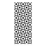 DON LETRA Alfombra Vinílica con Diseño de Baldosas - 120 x 50 cm - Material Impermeable y Lavable - Grosor de 2 mm, Color Blanco y Negro, ALV-013