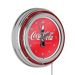 Trademark Global Coca-Cola Retro Neon Clock - 100th Anniversary of The Coca-Cola Bottle