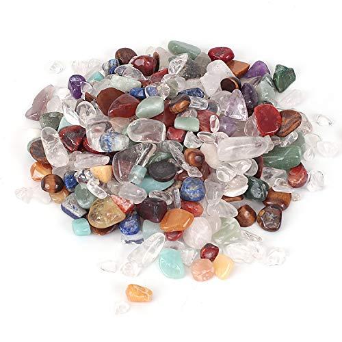 Shiny Stone Pierres décoratives en cristal pour aquarium, gravier de poisson, pierres décoratives pour bricolage, maison, jardin, décoration de cadeaux (cristal coloré, 9–15 mm)