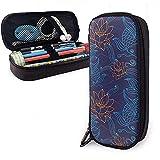 Oriental Koi Fish Arreglo floral Pétalos Estuche para lápices, bolsa de lápices de gran capacidad Bolsa de maquillaje