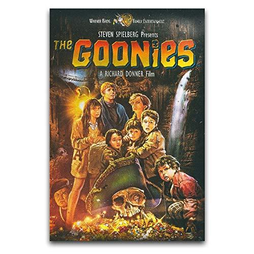 WPQL Póster de película The Goonies en lienzo, impresión moderna, diseño de familia y niño, 30 x 45 cm