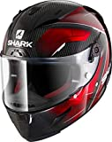 Shark Motorradhelm Hark Race-R PRO Carbon Deager, Schwarz/Rot, Größe M