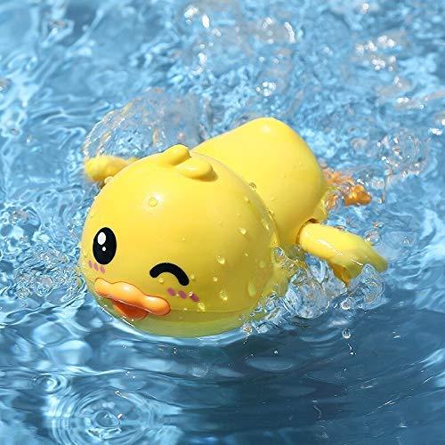 TYUXINSD Lovely Juguetes Baby Bath Toy DIY Building Spray Spray Sprinkler Toys Juego de Agua Dibujos Animados Lindo Animal Baño Bañera Juego de Verano para niños (Color: Gran Pato Amarillo)