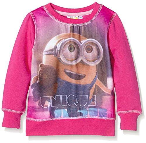 Universal Pictures Mädchen Minions Unique Sweatshirt, Pink (Fushia), 4 Jahre