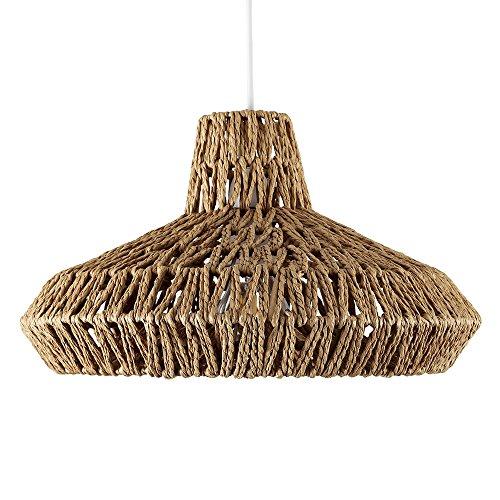 Modern Natural Woven Rope Design Ceiling Pendant Light Shade