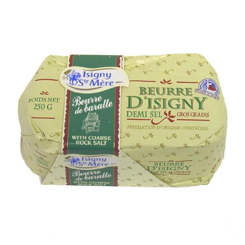 Isigny Butter with Coarse Rock Salt (250 gram)