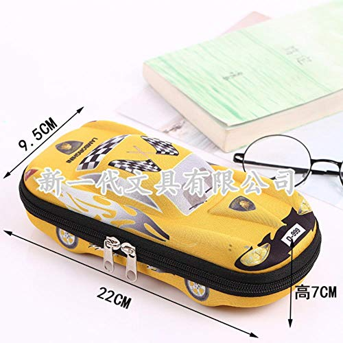 Cute School Pencil Case For Boys And Girls Cartoon Car Pencil Case 3d Pen Case For Childres Best Gifts For Your Kids,Yellow