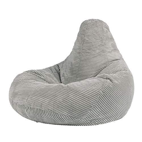 """Icon Sitzsack """"Dalton"""", Cord, Groß, Sitzsäcke für das Wohnzimmer, Schlafzimmer, Sitzsack-Sessel für Erwachsene"""