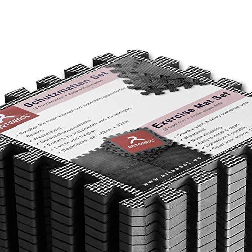 Arteesol - Alfombrillas de espuma para el suelo, 18 piezas, rompecabezas de goma EVA entrelazado, 18 piezas, almohadillas protectoras para el suelo (18 unidades)