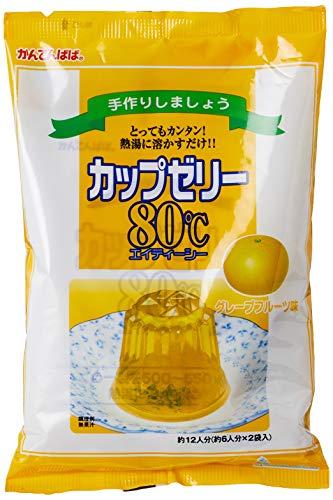 かんてんぱぱ カップゼリー グレープフルーツ味100gX2袋 約6人分X2袋