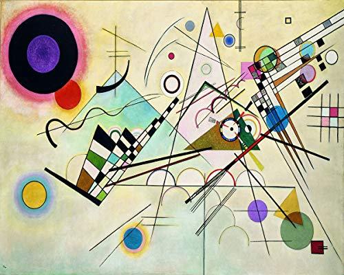 Legendarte Schilderij van Wassily Kandinsky-Composition VIII-Digital Print op Canvas-cm. 40x50, Linnen, Multi kleuren