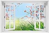 Wallario selbstklebendes Poster - Kirschblütenzweige und