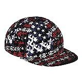 Gorra de béisbol plana 3D, con bandera de Estados Unidos, máscara de gas, ajustable, con visera plana, informal, para papá, gorros de camionero, para hombres y mujeres, color negro