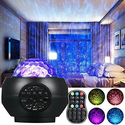 Sternenhimmel Projektor, Infankey Sternenhimmel Lampe mit Fernbedienung, 27modi/5Helligkeitsstufen/360°Drehen/Lautsprecher/Timer, Galaxy Light Projector für Party Weihnachten
