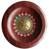 Fikujap Set di Roulette in Legno Set di Rotelle da 12 Pollici Giochi da Tavolo per Il Tempo Libero Giochi di Svago Adulti Roulette Tavolo E Ruota Big Game Set Legno Shot Roulette Bere Gioco