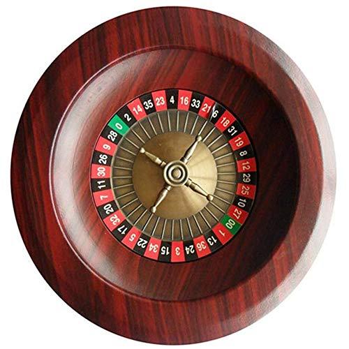 Fikujap 12'Roulette Wood Wheelset Casino Precision Roding, Aeroplano Aluminio Plato Turnato de Platos Turnato de Ocio Juegos de Mesa para el Juego Casa Noche o una Fiesta en el Club