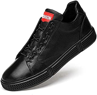 FYXUKK Men's Fashion Leather Shoes School Style Casual Low-top Sneakers