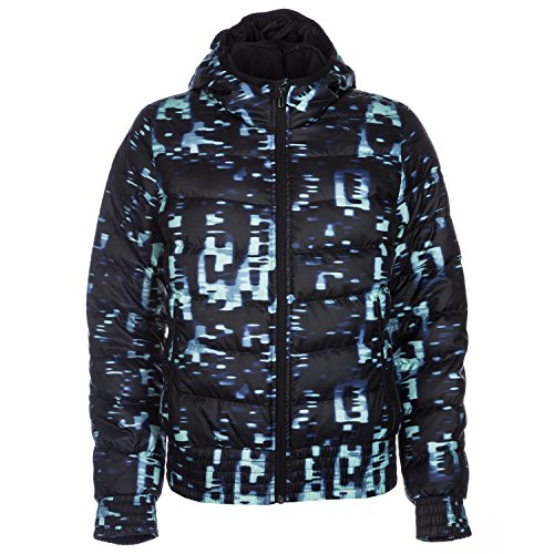adidas Damen Jacke Cosy Bomber All Over Print, Schwarz/Blau, XS, AA1775