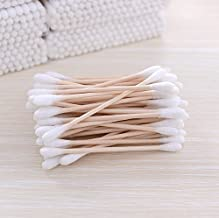 VNDEFUL Bamboo stick cotton swab 200PCS (2 packs) Long-staple cotton - Cotton Swabs Double Tipped Cleaning Swab.