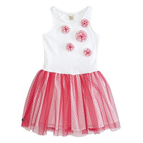 Jotdom jurk zware/feestelijke jurk - paradise roze kleur roze, maat 134-140