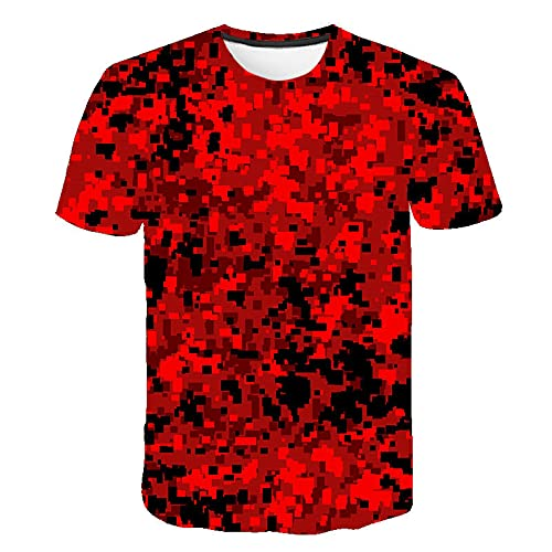 Astemdhj T-shirt men Short sleeve Red Gray Green Camouflage Clothing Men Women 3D Print T-Shirt Short Sleeve Fashion Breathable T-Shirt Size S-6Xl Clothing L Txa1080