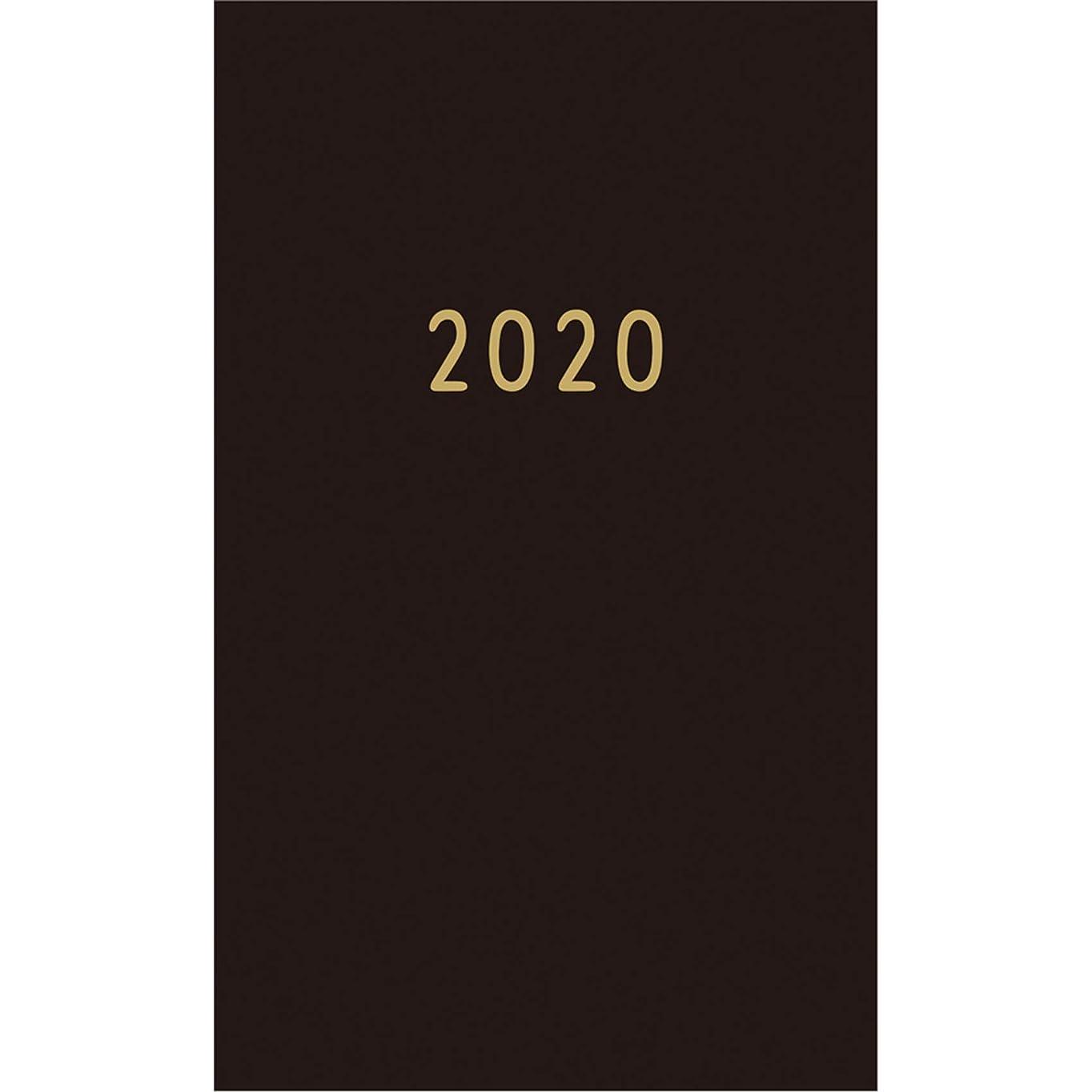 仮説暴徒掻くGreeting Life グリーティングライフ Noritake 手帳 2020年 19年12月始まり マンスリー B6 スリム ブラック CD-909-NT