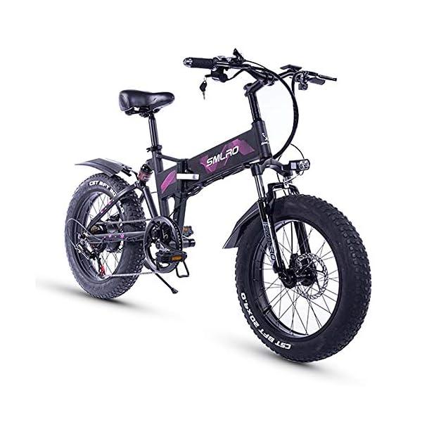 51h1C4wdChL. SS600  - XXCY 20 Zoll Fetter Reifen, 36V 500W Motor, faltbares Fahrrad, elektrisches Fahrrad, Mobile Lithiumbatterie Shimano 7-Gang hydraulische Scheibenbremse