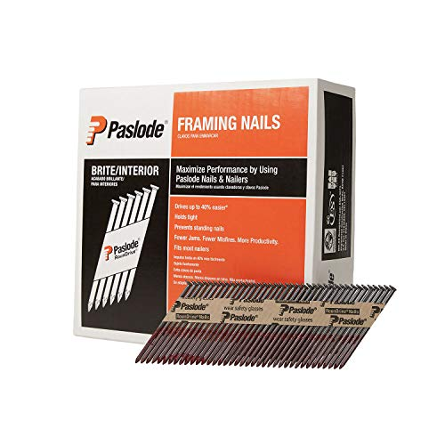 Paslode, Framing Nails, 650830, 30 Degree RounDrive Brite, 3 inch x.131 Gauge, Smooth, 2,500 per Box