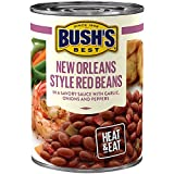 BUSH'S BEST New Orleans Style Red Savory Beans, 15.3 Ounce Can (Pack of 12), Canned Beans, Red Beans Canned, Source of Plant Based Protein and Fiber, Low Fat, Gluten Free, Great in Red Beans and Rice