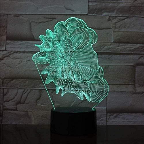 Baby Spielzeug 3D luz de noche visual nueva lámpara abstracta LED decoración colorida 3D lámpara de escritorio para habitación luz regalo