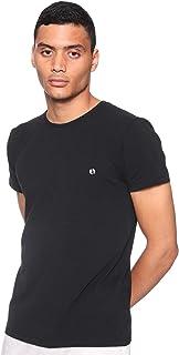 تيشيرت قطن برقبة دائرية واكمام قصيرة بشعار امامي للرجال عمرو دياب من 34 - زيتي، XXL