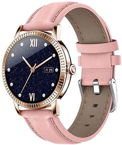 Reloj inteligente para mujer IP67 resistente al agua, reloj de pulsera informal con monitor de frecuencia cardíaca para Android 4.4 IOS8.0 o superior