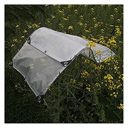 Lonas claras Tarpaulinas de PE transparente impermeable con almohadillas de goma Peso ligero Tarpa multiusos para invernaderos al aire libre, 23 tamaños Lona premium ( Color : CLEAR , Size : 2.5X3M )