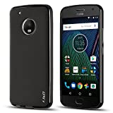 J&D Case Compatible for Moto G5 Plus Case, Drop Protection Slim Cushion Shock Resistant Protective TPU Slim Case for Motorola Moto G5 Plus (5.2 inch) Bumper Case, Not for Moto G5 5.0 inch, Black