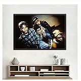 Tribe Called Quest Hip Hop Musikgruppe Rap Star Art Malerei
