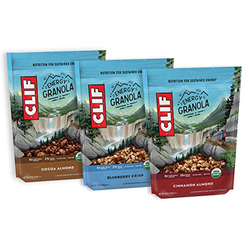 CLIF BAR Organic Gluten Free Granola - 3 Flavor Variety Pack - (10 Ounce Bag, 3 Count) (Packaging & Assortment May Vary)