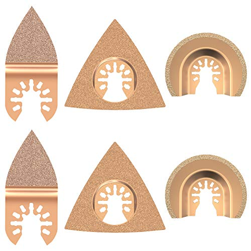 6 Stück Oszillierende Sägeblätter aus Hartmetall für Fein Multimaster Bosch Mix Multitool Zubehör