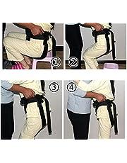MEYLEE Cuidado de la Salud Cinturón de cambio ajustable - Banda de restricción de seguridad de enfermería - El anciano Walker Walk Equipo de rehabilitación Cuidado de la salud para usuarios de sillas de ruedas