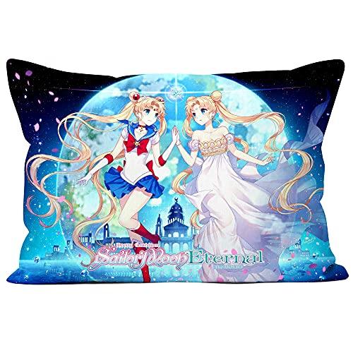 Squisita fodera per cuscino Sailor Moon federa decorativa a doppia faccia-regalo per letto, divano, decorazione della casa home (MS-20X30)