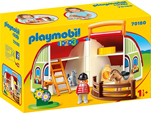 PLAYMOBIL 70180 1.2.3 Mein Mitnehm-Reiterhof, bunt