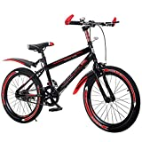 N&I Bicycle High Carbon Steel Bicycle Mountain Bike Student 20-20 inch Male and Female Single Speed Shock-Absorbing Bicycle C 22inch