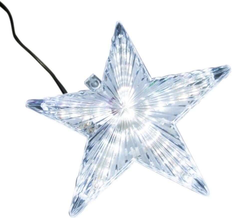 Novobey Christmas Tree Topper Star Light, LED Light Up Christmas