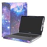 Alapmk Diseñado Especialmente La Funda Protectora de Cuero de PU Para 11.6' ASUS VivoBook E203NA E200HA L200HA/Chromebook C201 C201PA Series Ordenador portátil,Galaxy